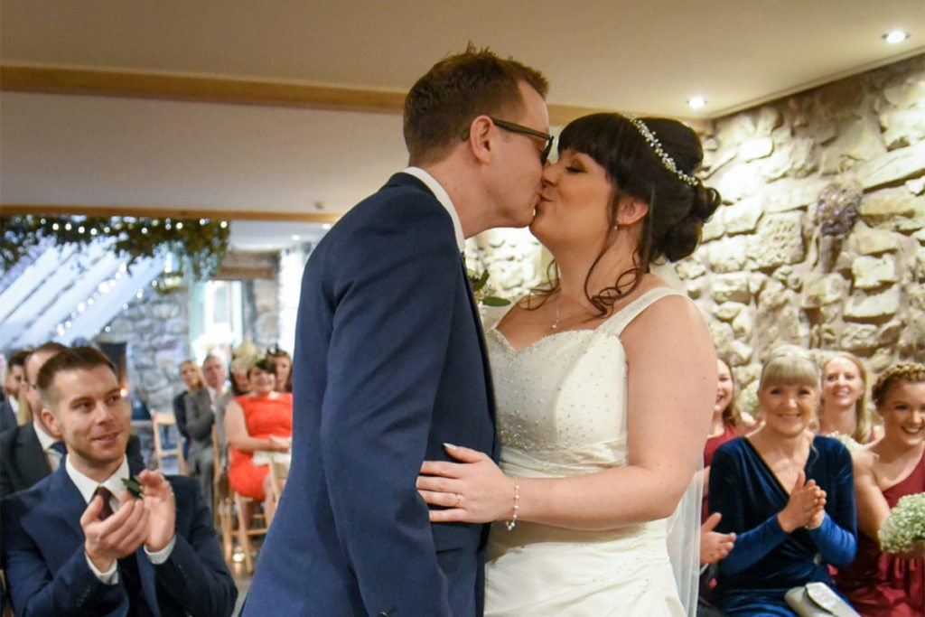 Hanna and Richard during their ceremony