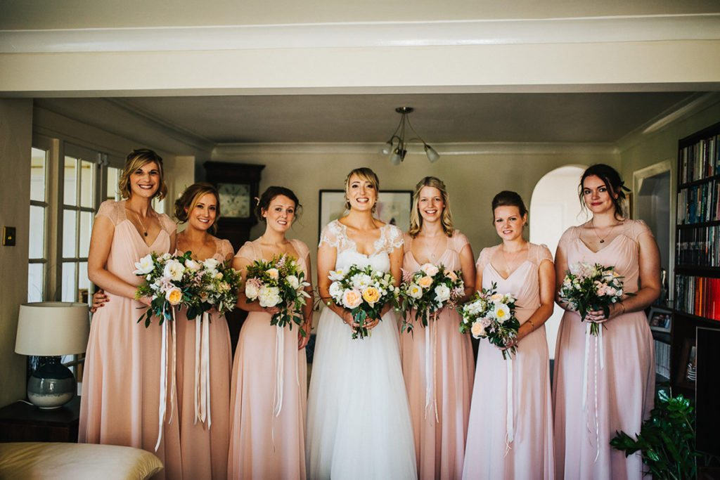 Jenna with bridesmaids