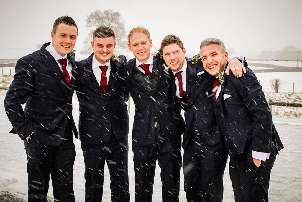 Group of Gentlemen in the snow