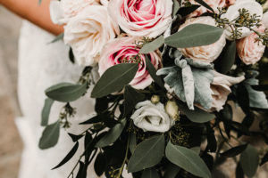 frosted bouquet of flowers