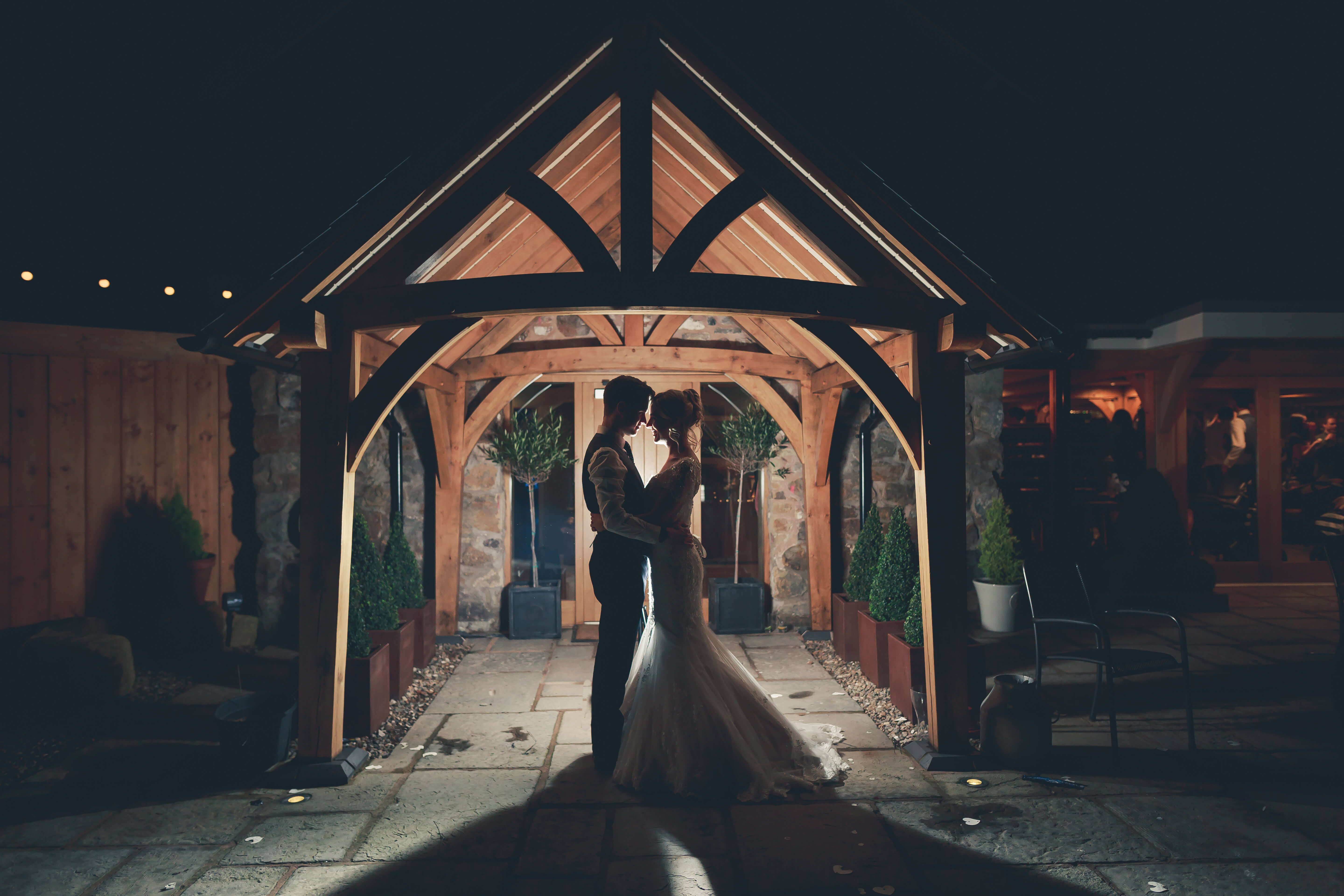Our 10 Favourite Wedding Photo Spots: silhouetted in the entryway in the alcove of the foyer with Willo Photography