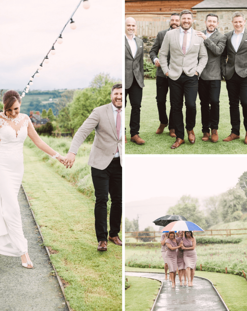 the wedding of rach and rich at Tower Hill Barns is featured on Brides Up North and was beautiful stormy day of thunderstorms